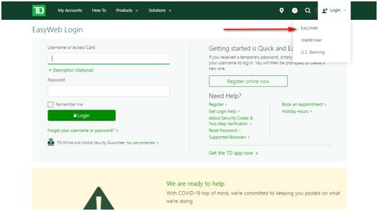 TD Bank Online Banking Login Guide