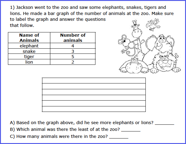Common Core State Standards Initiative – Pictograph Worksheets