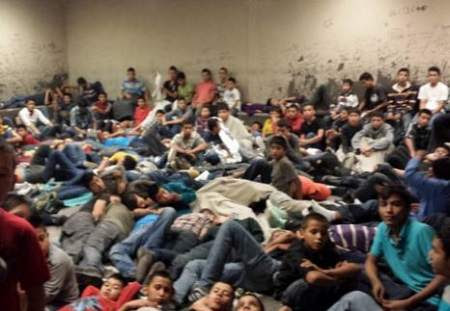 Leaked photos show immigrant children packed in crowded Texas border facilities