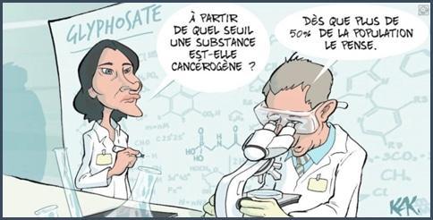 caricature glyphosate danger ou risque