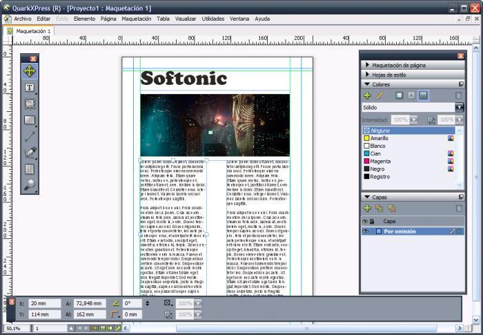 QuarkXpress software for flyers
