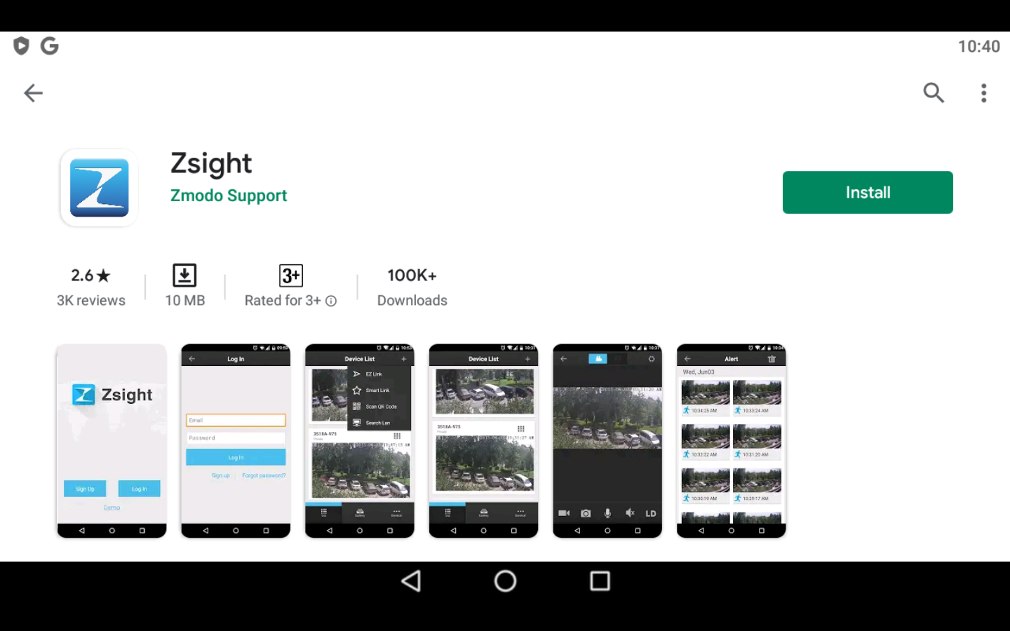 Zsight app on PC