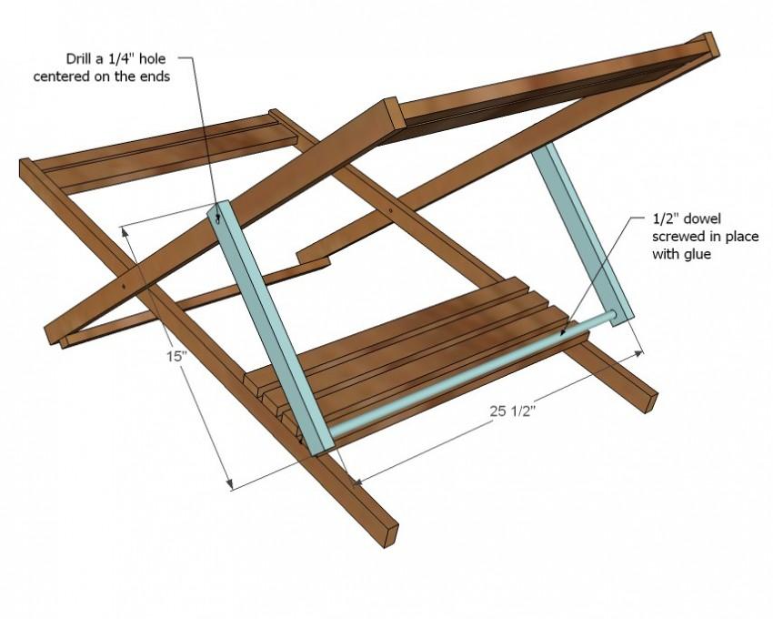Размеры складного стула