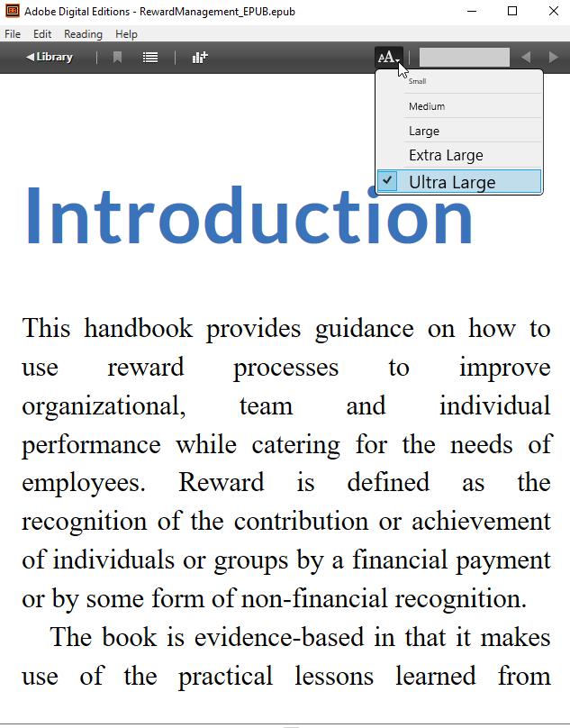 eBook in Adobe Digital Editions
