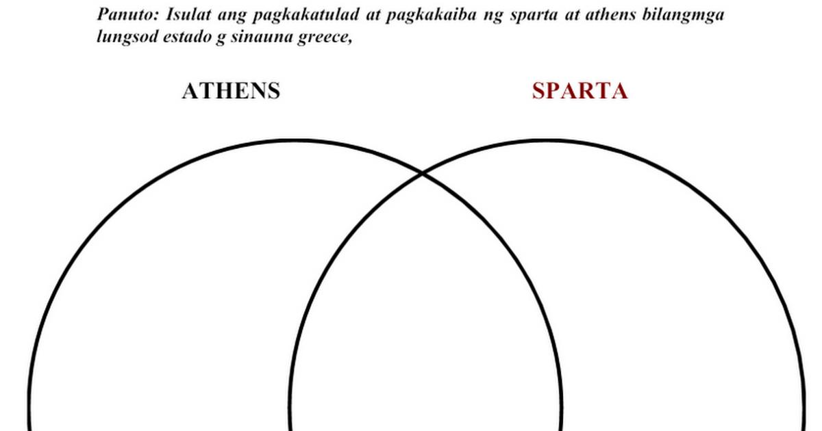 venn diagram-athens and sparta