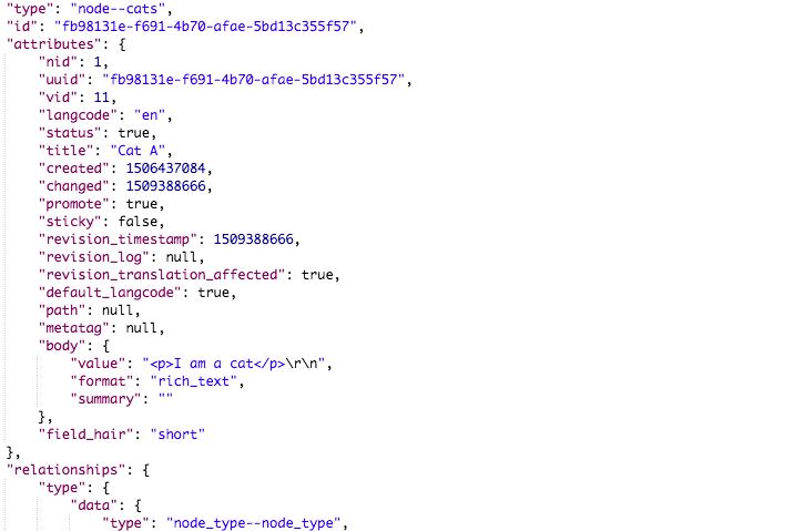 JSON API module