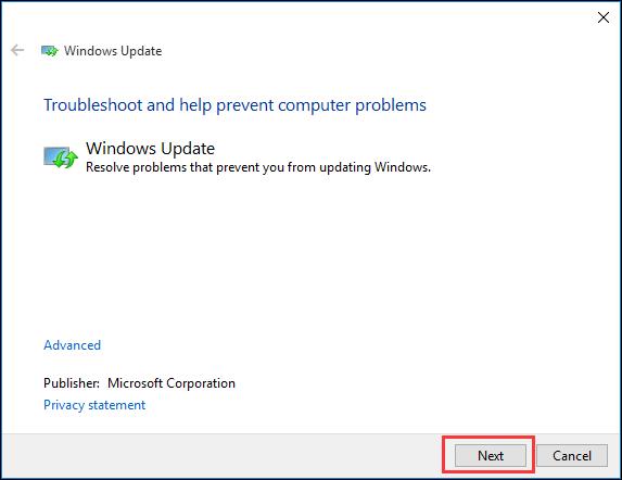 choose Windows Update