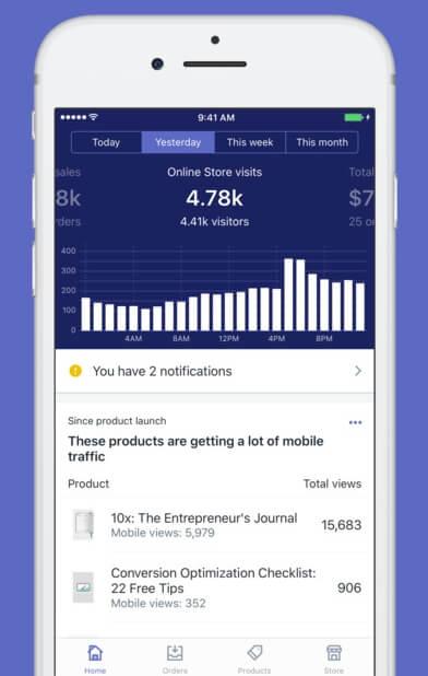 IOS-приложение Shopify