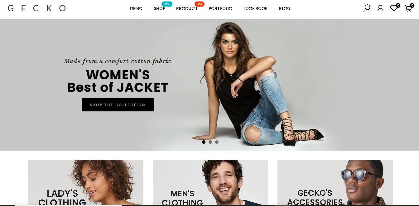Fashion shopify theme gecko 5.0