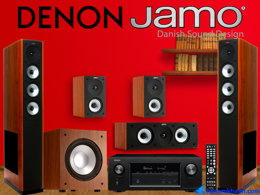 Chào Xuân 2019  Giảm tới 30 khi mua Amply Denon X2400H Bộ loa 5.0 Jamo S628 HCS Sub Jamo J10