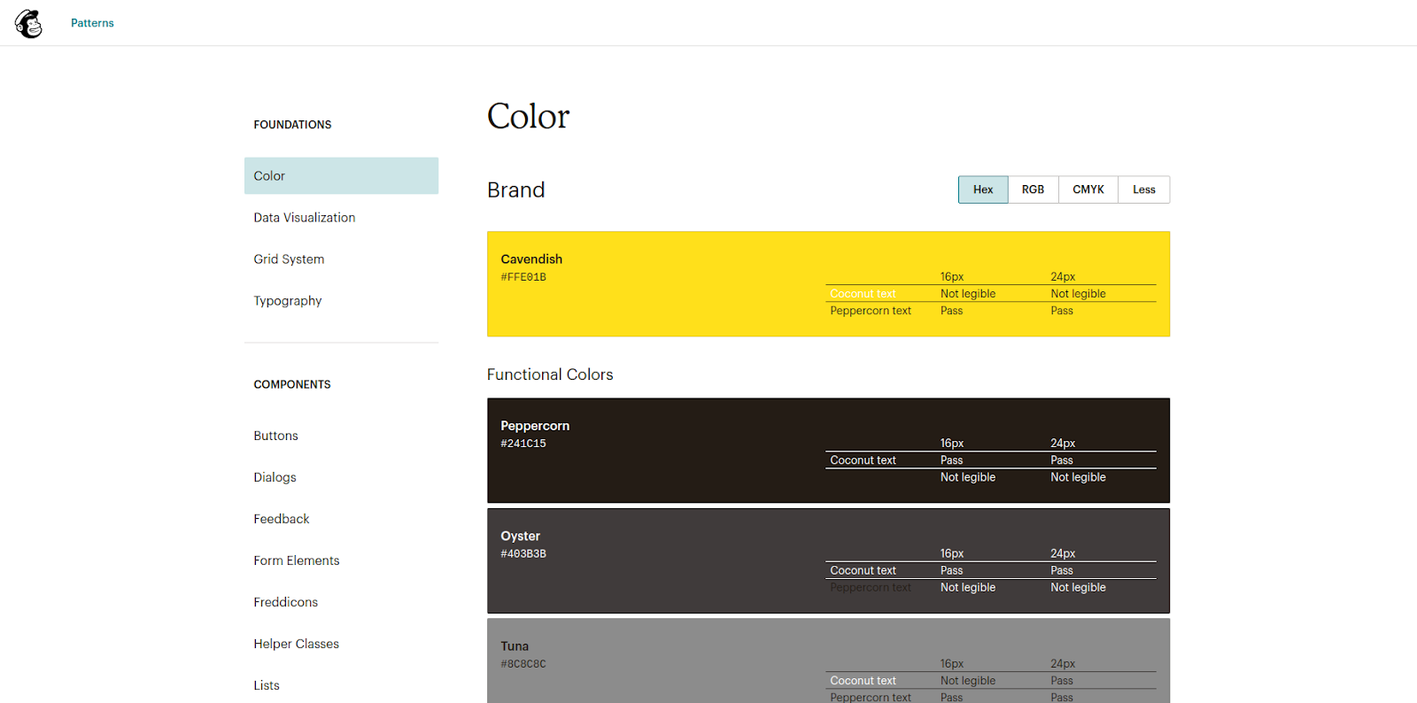 mailchimp color schemes guide