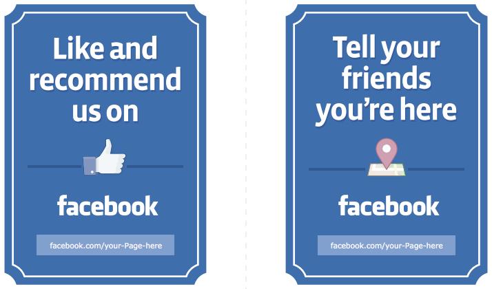 facebook signage