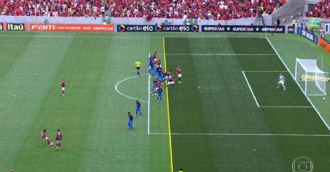 Gol do Flamengo foi em impedimento contra o Corínthians