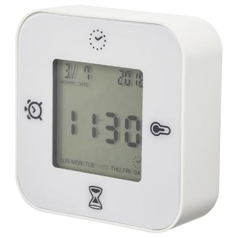 KLOCKIS คลูกคีส นาฬิกา/เทอร์โม/นาฬิกาปลุก/ไทม์เมอร์, ขาว