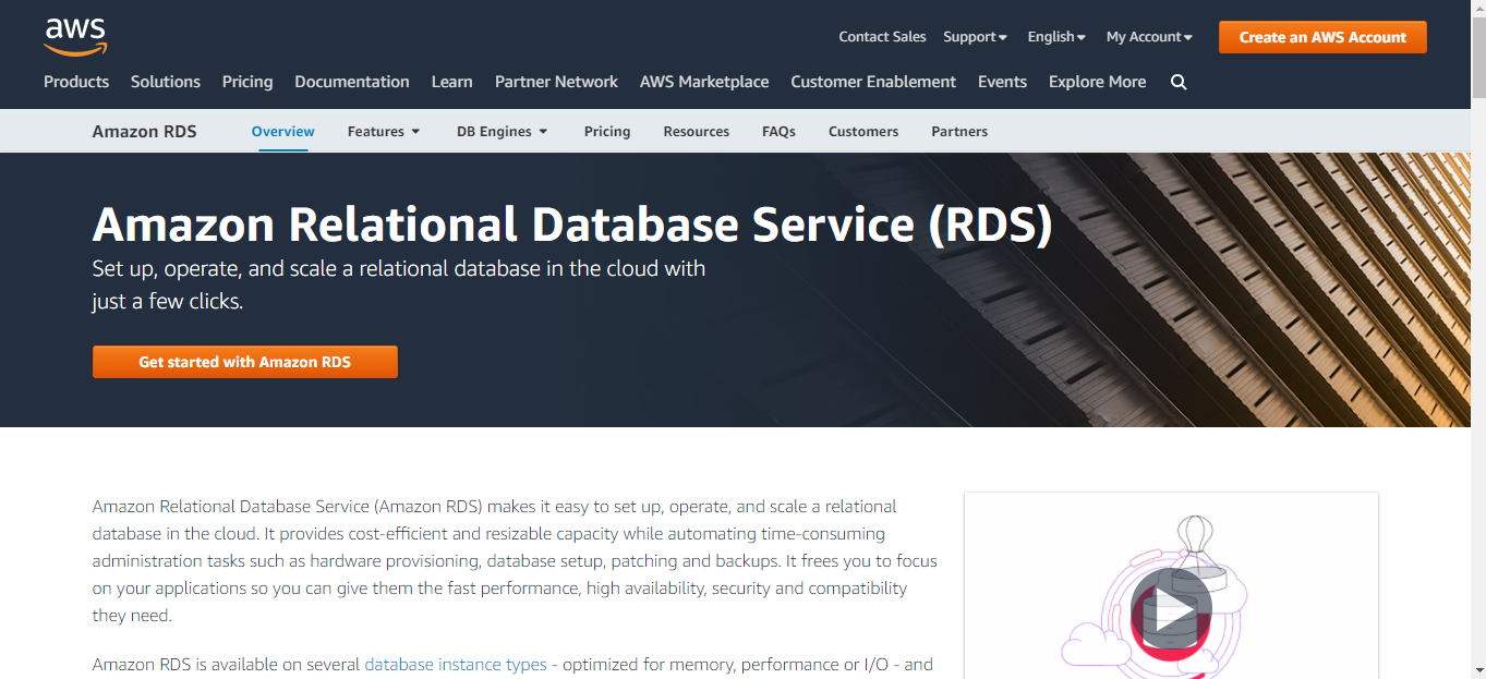 Amazon RDS is a Database Management Software