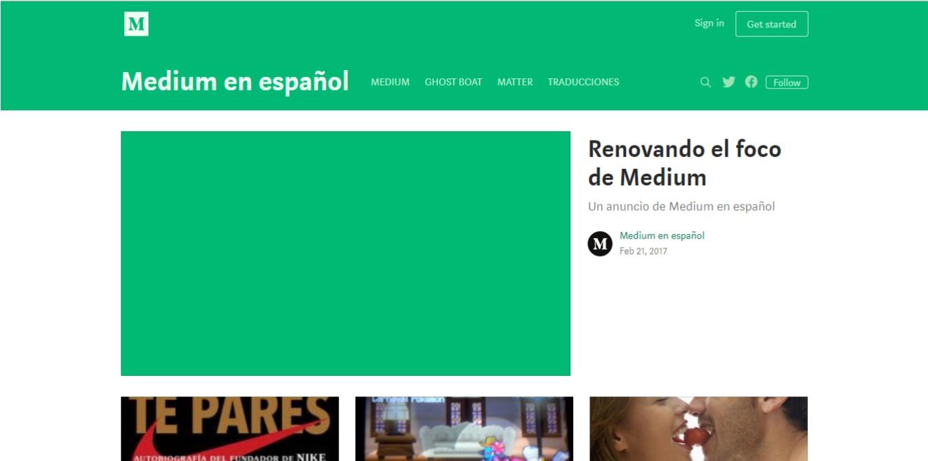 Medium en español.
