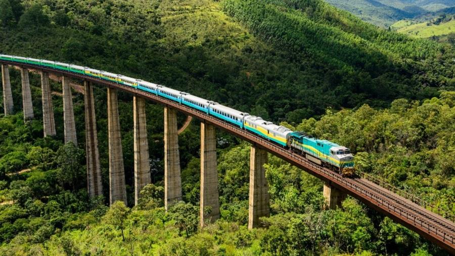 Ferrovia liga o estado do Espírito Santo com Minas Gerais. (RMG Engenharia/Reprodução)