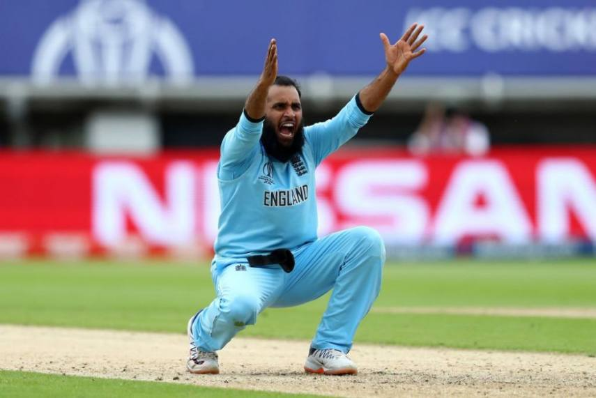 Adil Rashid appealing for a wicket in the England jersey