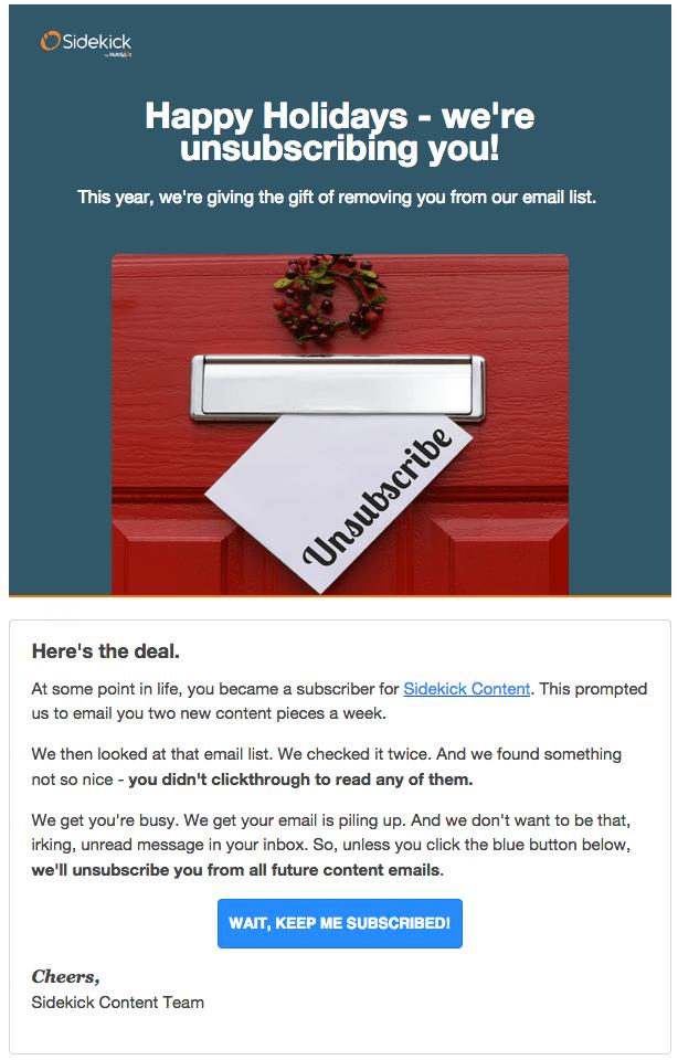 Sidekick Hủy đăng ký Email
