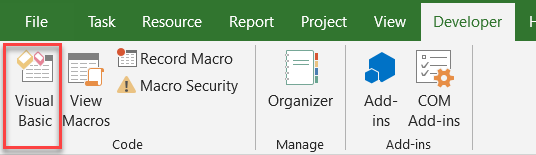 Microsoft Project VBA - Navigating The VBA Editor | Mad