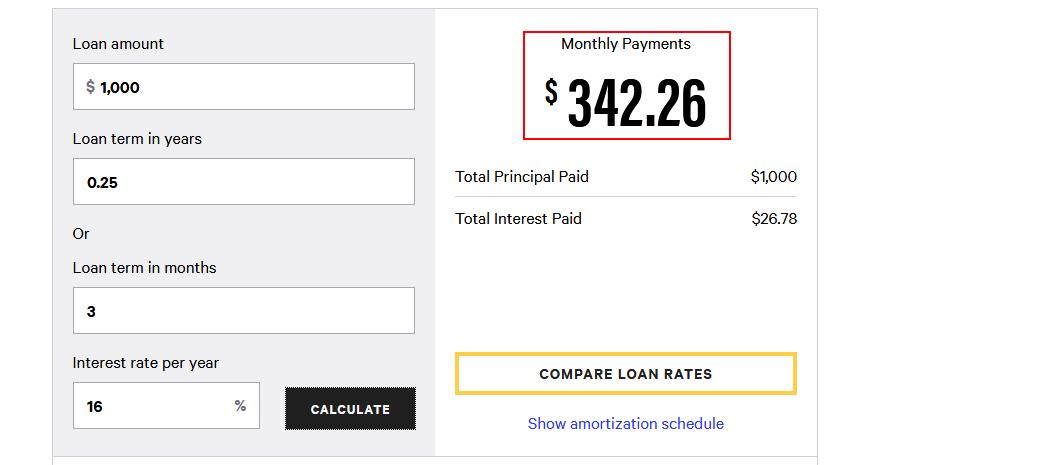 Lending Business Ideas: Interest calculation.