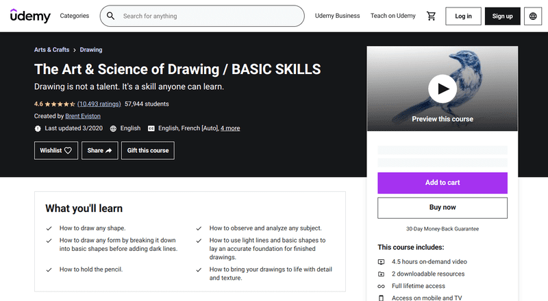 The Art & Science of Drawing / BASIC SKILLS is structured to show beginning artists how to master the basics one day at a time.