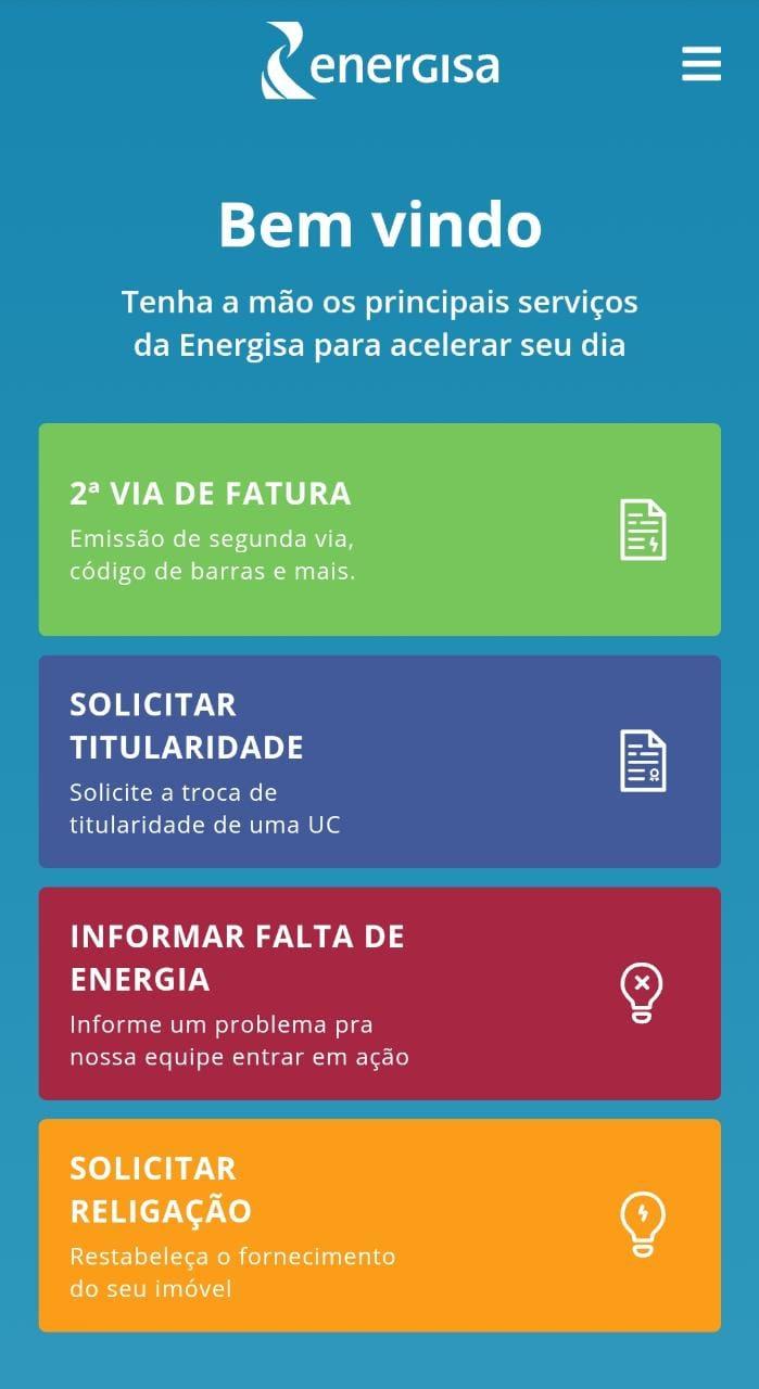 alertar falta de luz pelo site mobile energisa