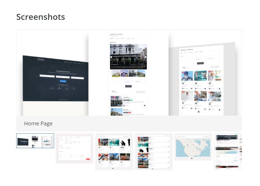 business directory plugin screenshots
