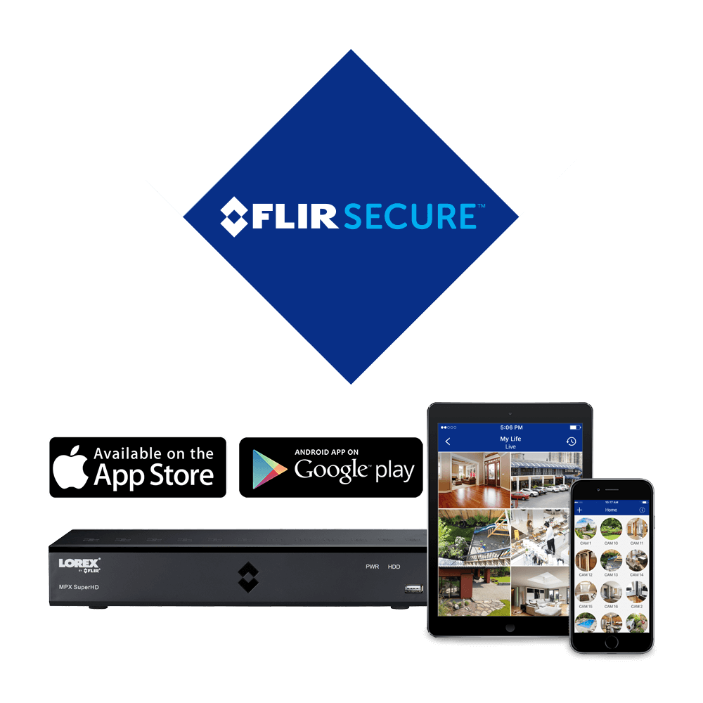 FLIR Secure app for smartphones and tablets