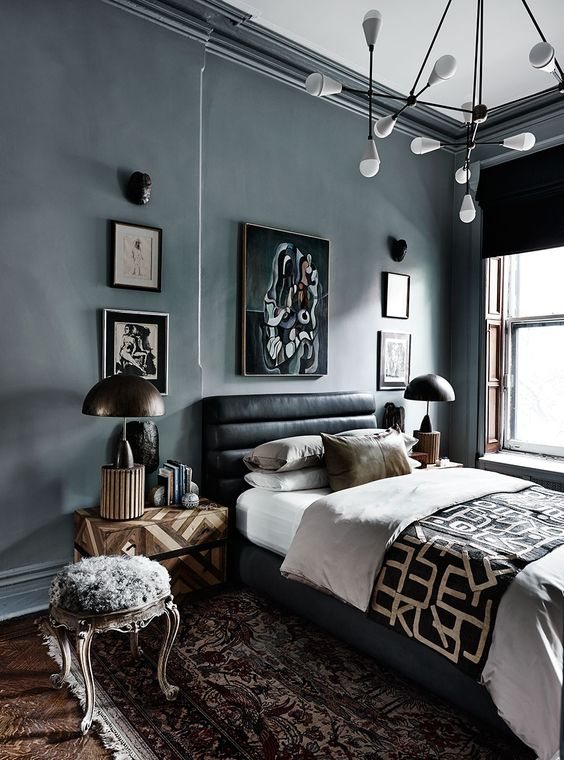 Bring Masculine Vibe to Bedroom