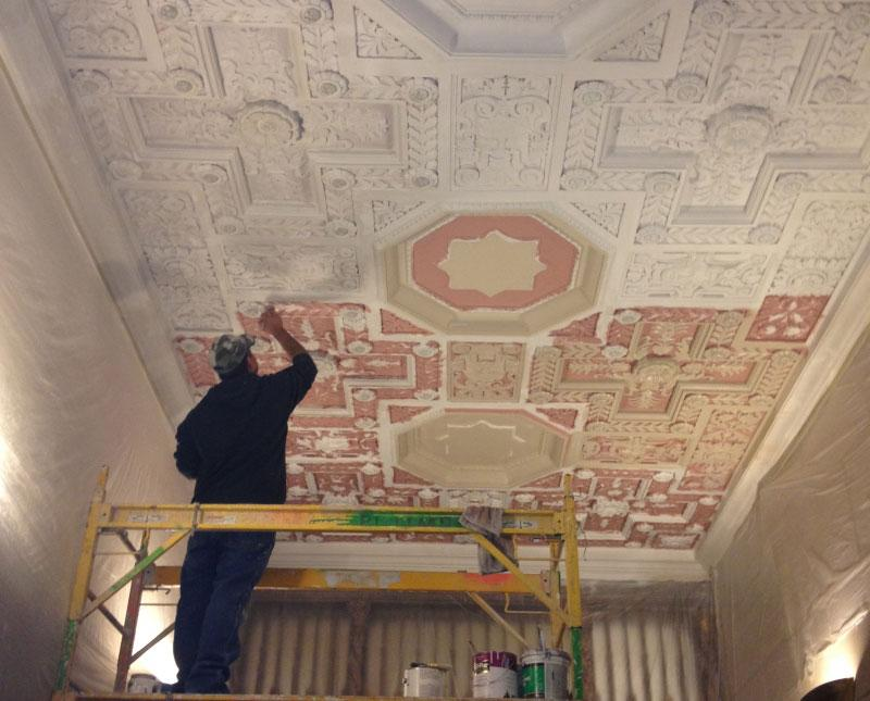 Adaptive Reuse in Los Angeles: Uncovering one of the ceilings at the Chester Williams Building