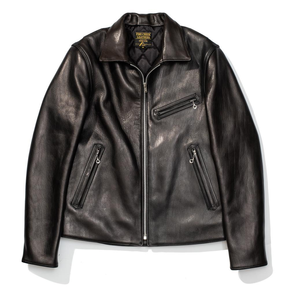 Fine Creek Leather Eric Leather Jacket Black-Leather Jacket-Clutch Cafe