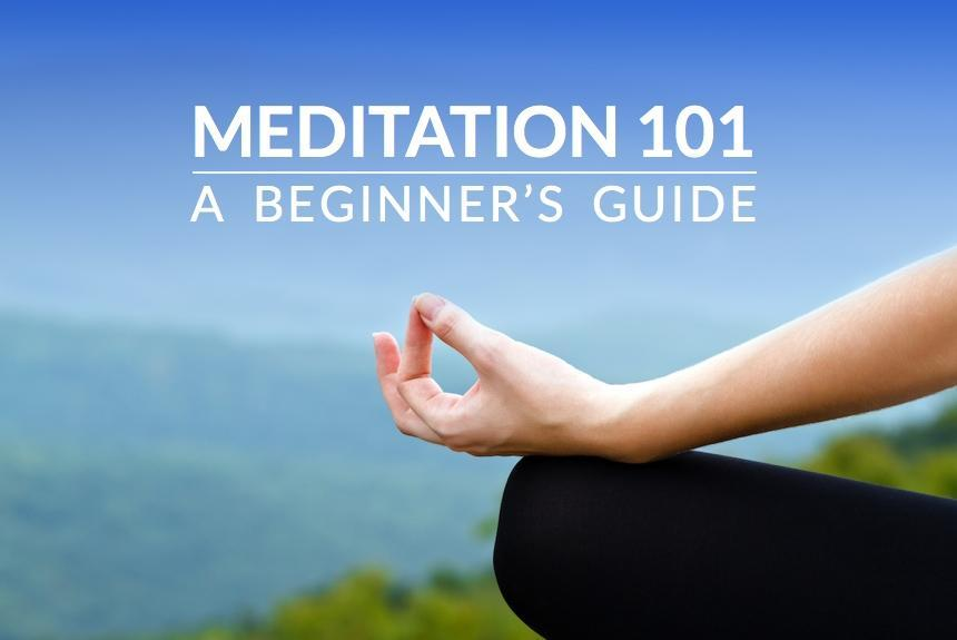 beginner meditation 101 sign to show the next section starts with the basics