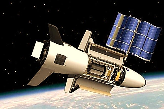 Image result for hình tàu con thoi x37b