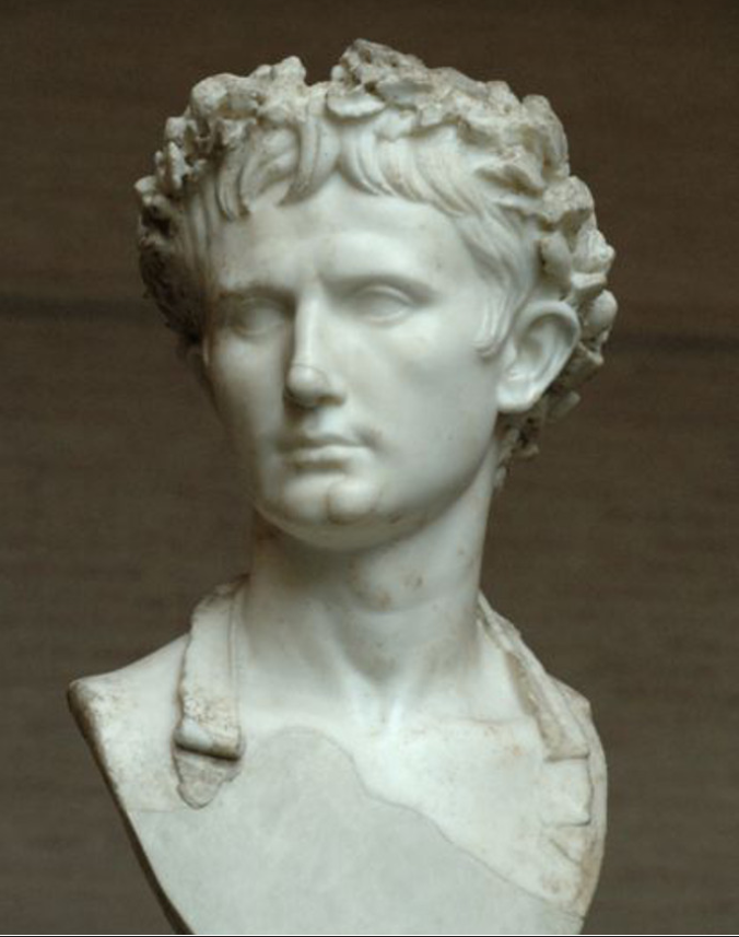 Julius Caesar wearing a stephanos, or grass crown at Condren Galleries.