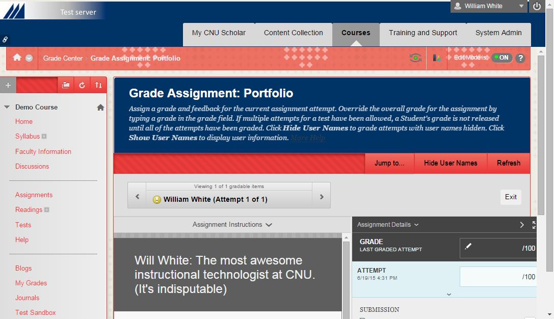Grade Portfolio Assignment