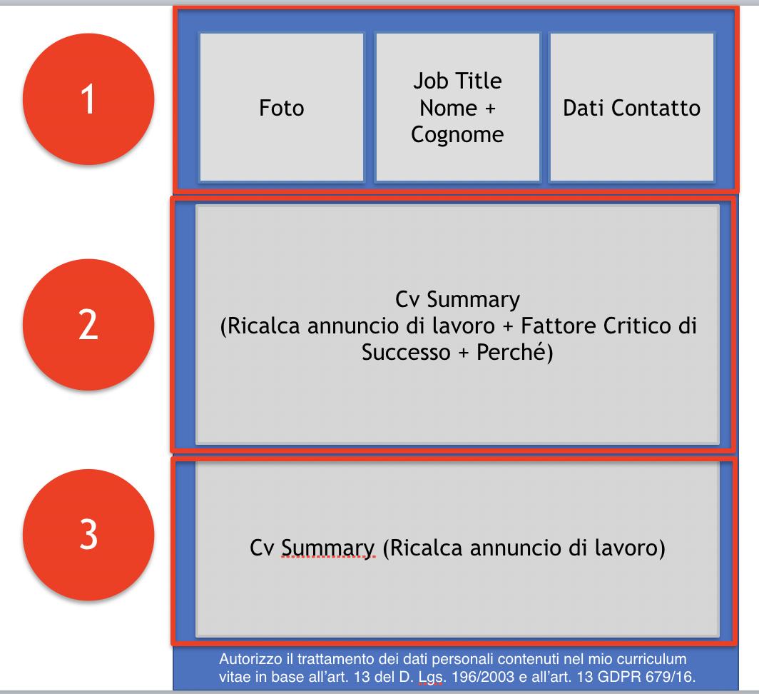 Curriculum efficace struttura