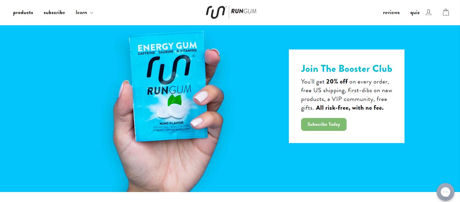Personalization strategy Run Gum Loyalty program