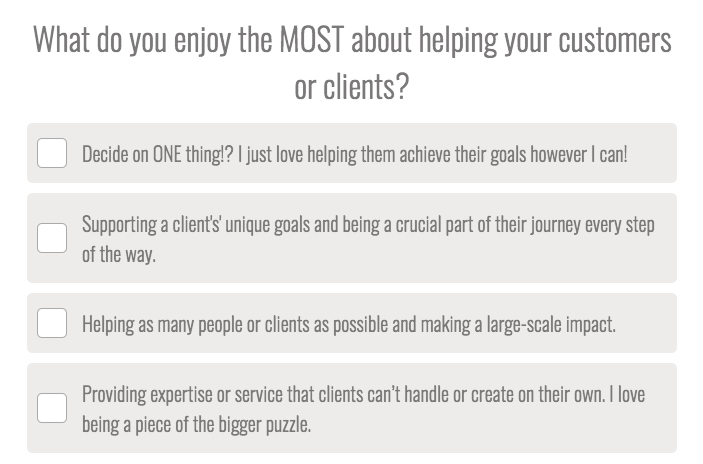 what do you enjoy most in helping clients question