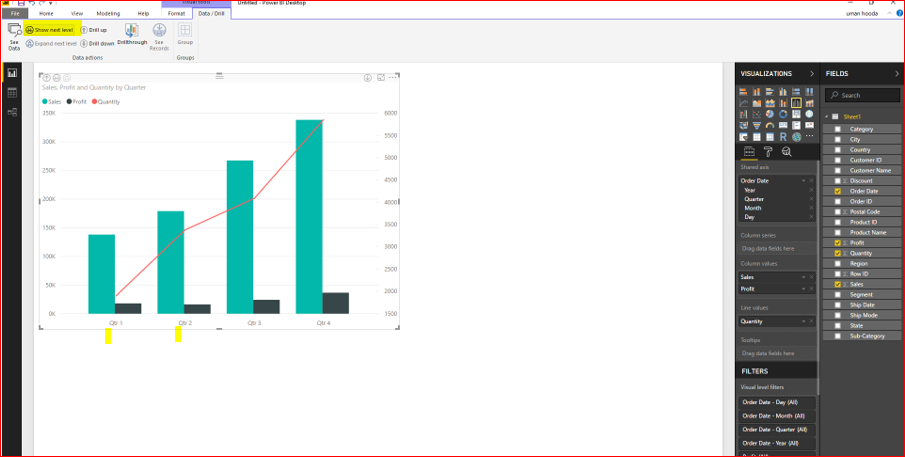 Dual Axis Chart in Microsoft Power BI - Step By Step 35