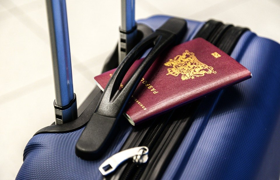 Passport,Luggage, Trolley, Travel, Trip, Vacation