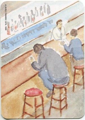Карта из колоды метафорических карт Ох: человек в баре