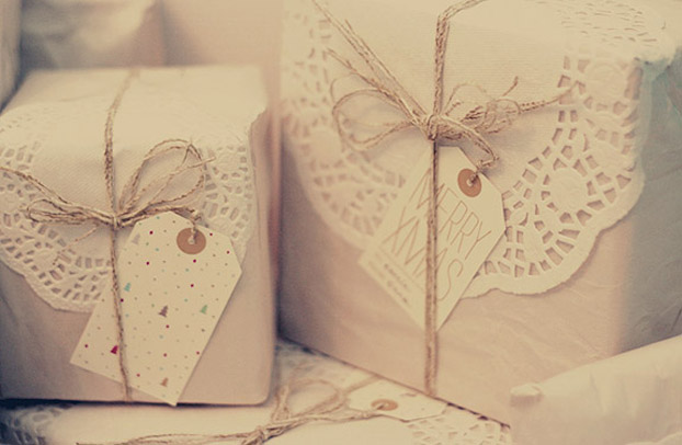 Parcel paper and twine makes an elegant looking gift