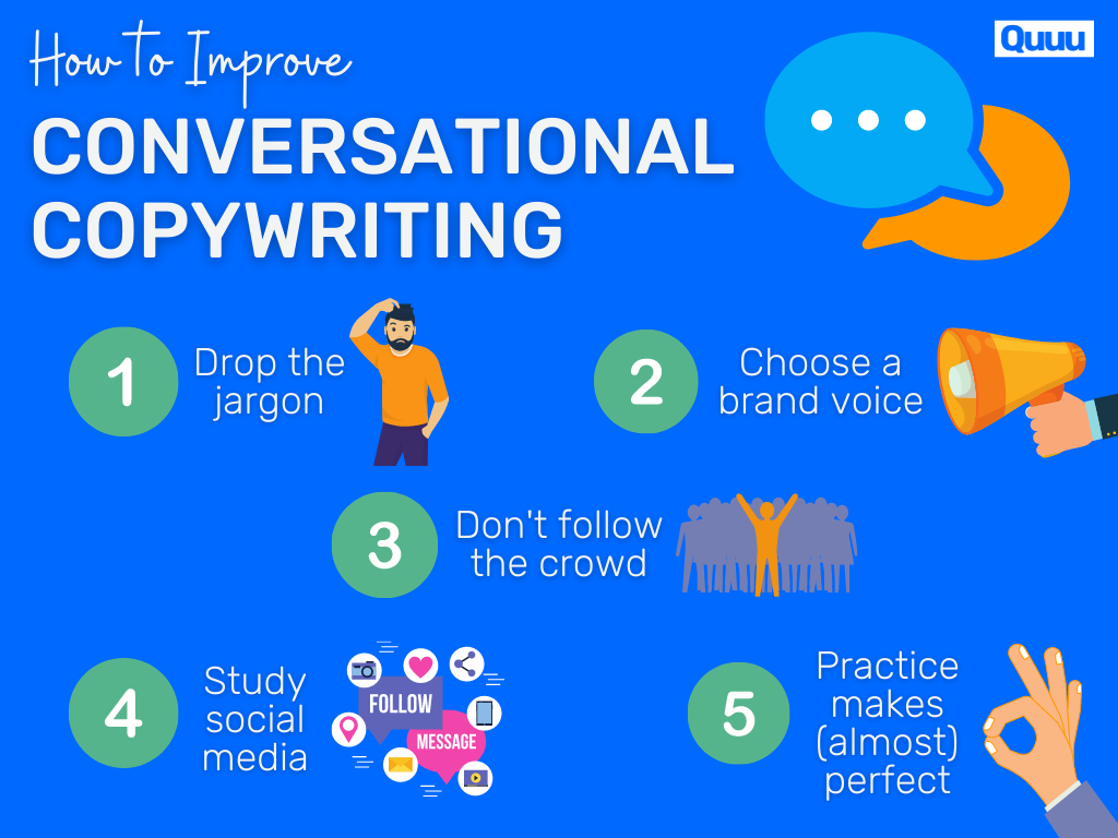 5 strategies for improving conversational copywriting [infographic]