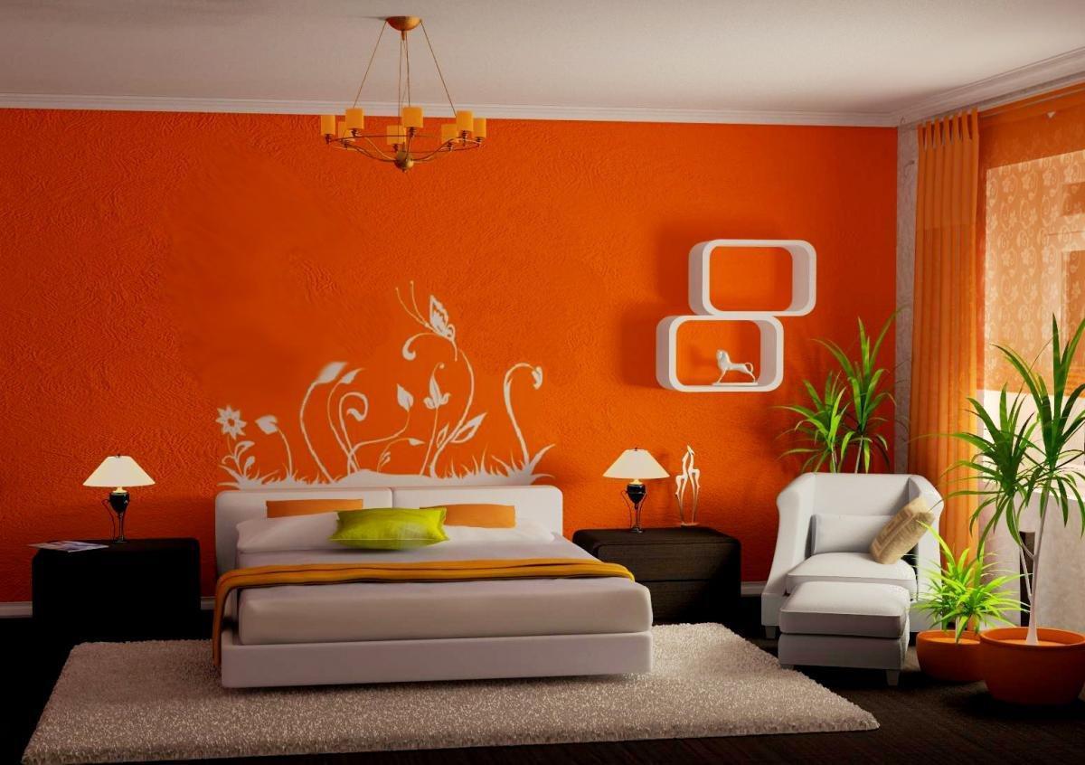 Изображение выглядит как внутренний, стена, оранжевый, комната  Автоматически созданное описание