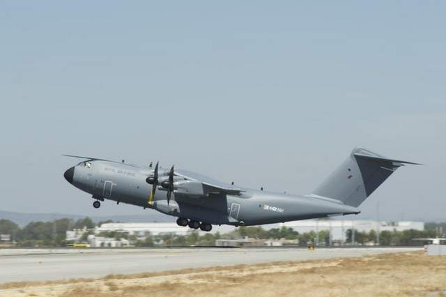 MAIDEN VOYAGE: The first Airbus A400M new generation airlifter ordered by the Royal Air Force has made its maiden flight, marking a key milestone towards its delivery. The aircraft, known as MSN15, took off from Seville, Spain, at 14:25 local time (GMT+1) on 30 August and landed back on site 5 hours and 5 minutes later.