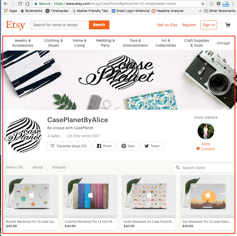 96e7afbad In addition, your URL is not unique at all with Etsy. null. If you ...