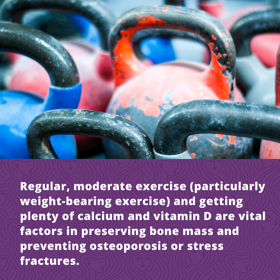 Weight training is a great way to maintain women's fitness by preserving bone density and preventing osteoporosis.