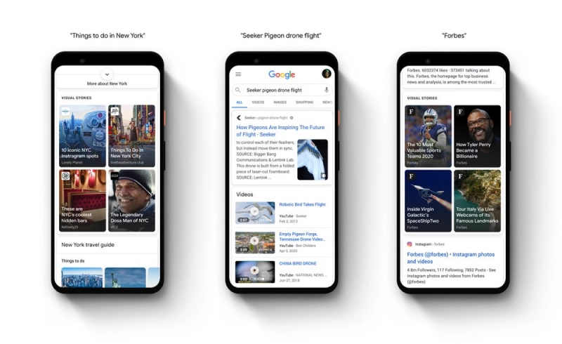 Google AMP stories placement