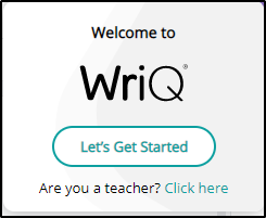 WriQ Welcome Picture